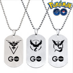 Game Pokemon Go Dog Tag Team Valor Mystic Instinct Logo Pendant Logo Necklace