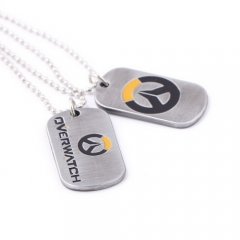 Game OW Overwatch Tracer Reaper Logo Keychain Necklace
