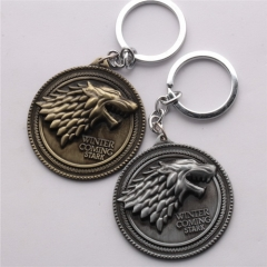 Movie Game of Thrones House Stark Keychain