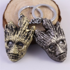 Movie Guardians of the Galaxy Groot Mask Keychain