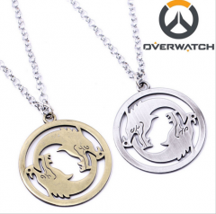 Hot Game Overwatch Double Dragon OW Pendant Necklace Keychain
