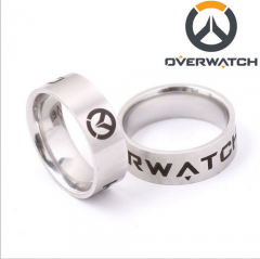 Game Overwatch Logo Ring Tracer Reaper OW finger ring