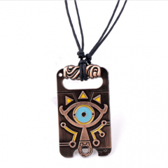 Game The Legend of Zelda Breath of the Wild Keyring Big eyes logo Necklace