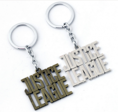 Superhero Movie Jewelry Justice League Letter Logo Keyring