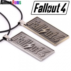 Game Fallout 4 Logo Dog tag Keyring Keychain Necklace Pendant