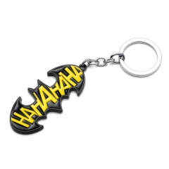Movie DC Comics Batman Keychain Black Pendant Unisex Superhero Keyring