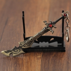 12cm Game League Of Legends Weapon Keyring the Wuju Bladesman Master Yi LOL Sword Model