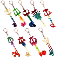 9 types Game Kingdom Hearts II Colorful Keychain Keyring