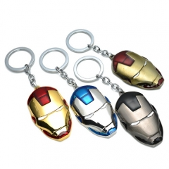 Movie Marvel Comics Super Hero The Avengers Iron Man Mask Keyring Keychain
