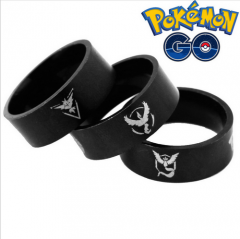 Game Pokemon Go Jewelry Team Valor Team Mystic Team Instinct Logo Ring Size #8 #9