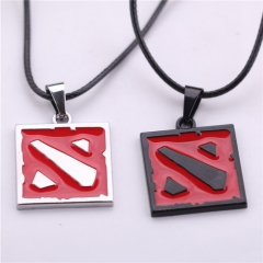 Fashion Online Game DOTA 2 logo Pendant Necklace Dota2 2 colors for fans