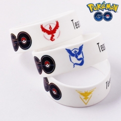 Game Pokemon Go Bracelet Team Team Valor Instinct Mystic Logo Silicone Bracelet Bangle