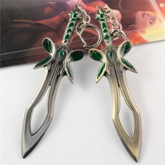 Game Dota 2 the Butterfly Sword Weapon Keychain Pendant Keyring Cosplay Jewelry