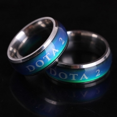 Hot Game Dota 2 Change Color Temperature Titanium Steel Logo Ring