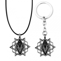 Game Assassin's Creed Choker Necklace Keyring Charm Gift
