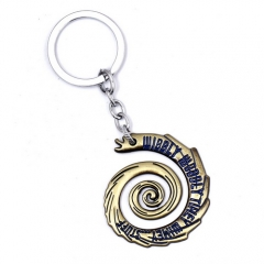 Movie Doctor Who WIBBLY WOBBLLY TIHEY WIMEY STUFF Logo Keychain Sonic Screwdriver Keyring
