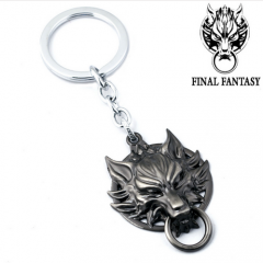 Game Final Fantasy Wolf 3D Wolf Head Metal Model Keychain Key Ring Holder