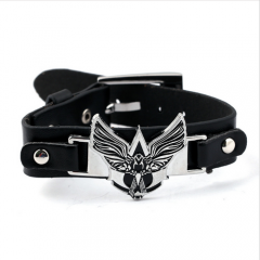 Game Assassin's Creed Logo Jewelry Punk PU Leather Bracelet