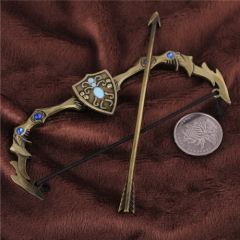 12cm Game League of Legends Weapon Keychain LOL The Frost Archer Ashe Bow Arrow Model keyring