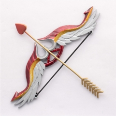 16cm Game League of Legends Weapon Keychain Model the Arrow of Retribution Varus LOL love Bow and Arrow