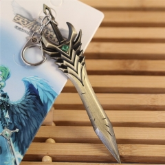 12cm Game League of Legends Sword Model Arbitration Paladin Kodiak Toth Weapon Keychain