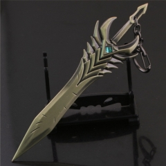 16cm Game League of Legends Weapon Keychain Model Arbitration Paladin Kodiak Toth Sword LOL Aatrox Charm keyring