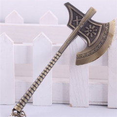 12cm Game League Of Legends The Berserker Olaf Weapon Keyring LOL Sword Axe Model Pendant Keychain
