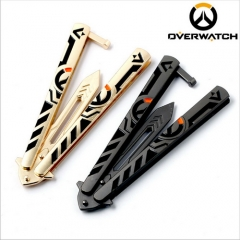 21cm Game Overwatch Key Ring Tracer Reaper Weapon Model Sword Charm Keychain