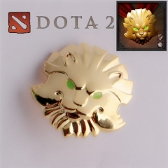 Game DOTA 2 Medal Of Courage Badge Lion Head Brooch Pin