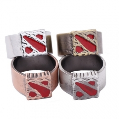 Game Jewelry Dota 2 ti5 Logo Ring Cosplay Jewelry Gifts