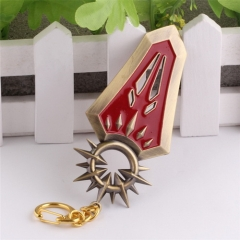 Game League Of Legends Leona Shield Weapon Keyring LOL Sword Model Pendant Keychain