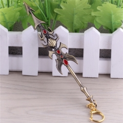 17cm Game League Of Legends the Exemplar of Demacia Jarvan IV Weapon Keyring LOL Sword Model Keychain