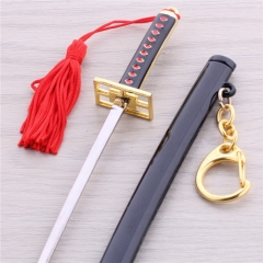 14cm Anime One Piece Keyring Roronoa Zoro Characters Sword Scabbard Weapon Keychain Key Holder DM640