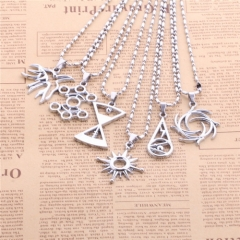 Fashion Hot Korean Popular Star EXO Necklace 12 Member Logo LU HAN KRIS CHAN YEOL LAY CHAN YEOL KAI TAO SE HUN Necklace & Pendant