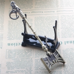 17cm Game League Of Legends the Defender of Tomorrow Jayce Hammer Weapon Keyring LOL Sword Model Pendant Keychain