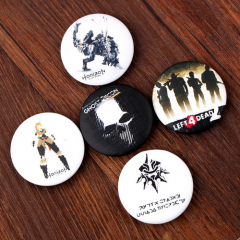 5 type Games Series Badge Tom Clancy's Ghost Recon NieR: Automata Left 4 Dead Horizon: Zero Dawn School Bag Brooch Pin