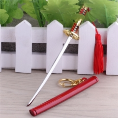 14cm Anime One Piece Roronoa Zoro weapon sword Metal Keychain Keyring Key Holder