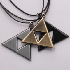 Game The Legend of Zelda The Triangle Mark Logo Necklace Keychain Keyring Personality Souvenir