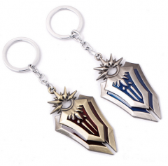 Game LOL the Radiant Dawn Leona Weapon Shield League Of Legends Model Keychain