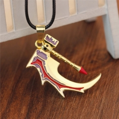 Game DOTA 2 Broken Bone Hammer Weapon Skull Pendant Necklace