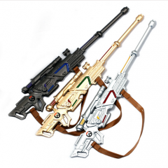24CM Game Overwatch Keychain Hero Weapon Model/Gun Charm Pendant Key Ring