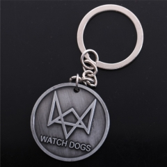 Game Watch Dogs Keychain Logo Key Chain Metal Keyring