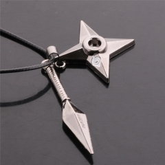 Anime Naruto Shuriken Ninja Weapon Pendant Necklace