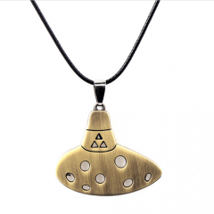 Game The Legend of Zelda Ocarina Choker Necklace Keyring dropping shipping