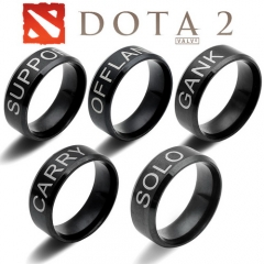 Game Dota 2 Position Ring Gank Offlane Solo Carry Support Logo Ring