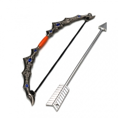 15cm Game LOL The Frost Archer Ashe Bow & Arrow Weapon Keychain Pendant Model Charm Gift Souvenir