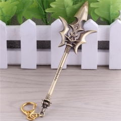 15cm Game League Of Legends Weapon Keyring the Exemplar of Demacia Jarvan IV LOL Sword Model Keychain