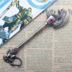 17cm Game League Of Legends the Curator of the Sands Nasus Weapon Keyring LOL Sword Model Pendant Keychain