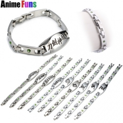 9 types Anime Bracelet One piece Naruto Fairy Tail Hatsune Miku Sword Art Online Bleach Kuroko no Basket Death Note Logo Bangle