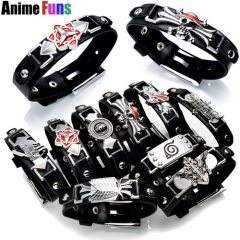 10 types Game Anime Bracelet One Piece Naruto Black Butler Fairy Tail Bleach Attack on Titan Death Note LOL Cross Fire CS Go Bangle